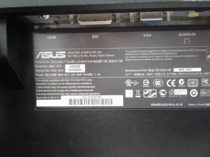 ASUS VH242H LCD Monitor DVI VGA HDMI Works GREAT 274441053450 2