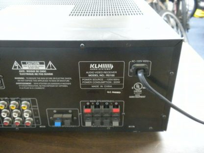 KLH Audio Systems R5100 Dolby Digital Surround AudioVideo Receiver Works 264570274140 6