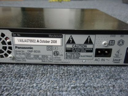 Panasonic DMP BD35 Blu Ray Player Works Great No issues 273812314850 5