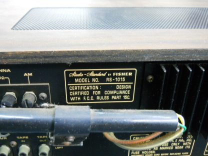 Super nice VINTAGE FISHER RS 1015 Receiver AM FM Wood Cabinet Runs Excellent 264716949660 7