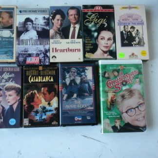 lot of 9 VHS Casablanca Father of bride Heartburn An Affair to remember Gigi etc 264517366710