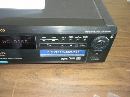SONY DVP C600D 5 Disc DVDCDVCD PlayerChanger Works Great 264580448051 7