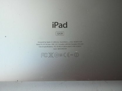 Apple iPad A1219 1st Gen 32GB Wi Fi 97in Black MB293LLA Good condition 264518639002 5