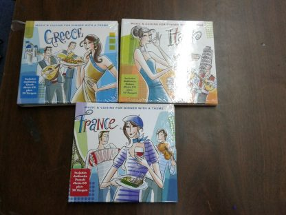 Italian France Greece Music Cuisine for Dinner with a Theme CD with recipes 264805920932