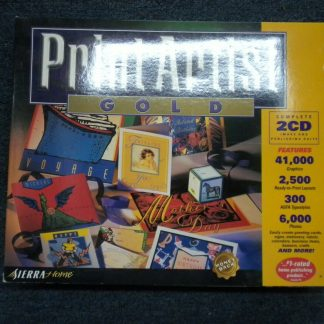 Print Artist Gold Edition PC MAC CD Windows 95 Macintosh New Sealed 264352166562