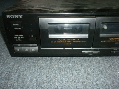 Vintage Audiophile Sony TC WR465 Dual Cassette Tape Deck working 264277759752 3