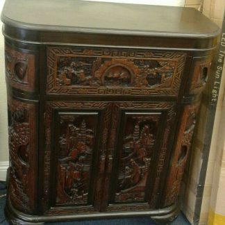 Vintage Wood Chinese hand carved Bar Coffee table stacked Table set Local pickup 264583501882