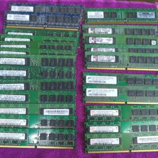 Lot of 23 Mixed brands 512MB PC2 3200 PC2 4200 PC2 5300 desktop RAM Memory 264304665653