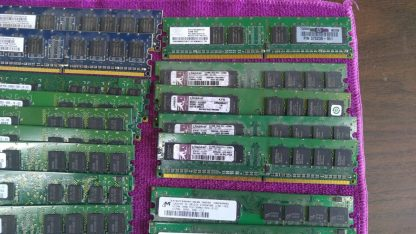Lot of 23 Mixed brands 512MB PC2 3200 PC2 4200 PC2 5300 desktop RAM Memory 264304665653 4