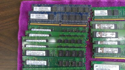 Lot of 23 Mixed brands 512MB PC2 3200 PC2 4200 PC2 5300 desktop RAM Memory 264304665653 5