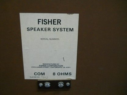 Rare Vintage Fisher 105 Audiophile Speakers SN 1 and SN 4 264716962503 6