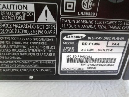 Samsung BD P1400 Blu Ray Disc Player w remote HDMI cable Works great 264845877113 12