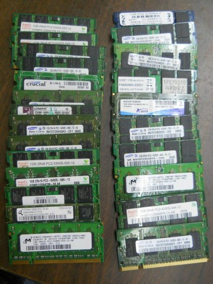 Lot of 24 1GB DDR2 Ram 24 Sodimm 264304665644