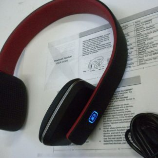 Royal HQS10 Red Bluetooth Headphones Works great 264609041684