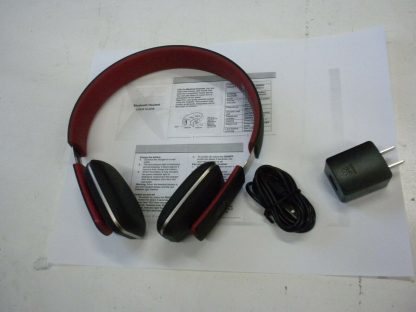 Royal HQS10 Red Bluetooth Headphones Works great 264609041684 5