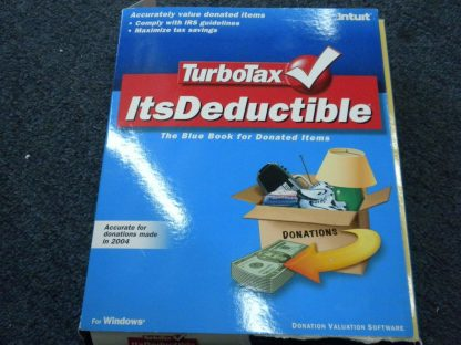 TurboTax Itsdeductible Tax year 2004 Bluebook for donated items for Windows 264349703164 2