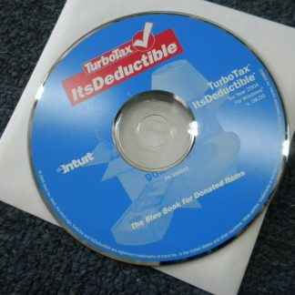 TurboTax Itsdeductible Tax year 2004 Bluebook for donated items for Windows 264349703164