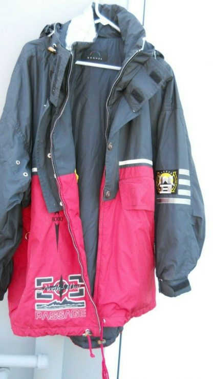 Bogner Mens Ski Winter Jacket with hoodie Red Black Size 40 274371757545 8