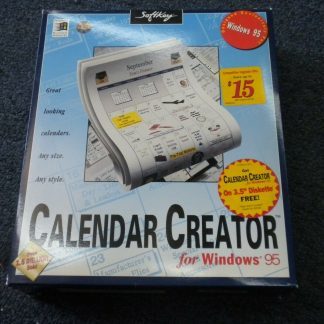 Calendar Creator for windows 95 CD ROM Floppy disk NEW 264350806545