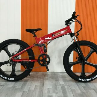 Fat Tire Folding Electric bike Ebike Full Suspension Big Tall Men Sand Snow 264297077395