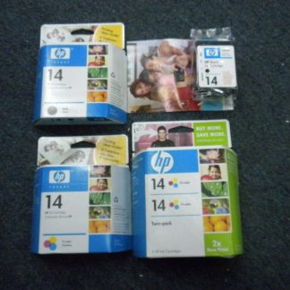 Lot of 4 Genuine HP 14 Black TrI color ink Cartridge CP1160 C5011D Sealed NEW 274265552825