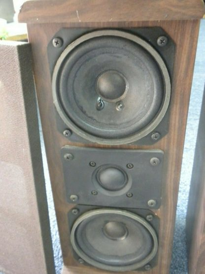 Vintage KOSS Dynamite M80 Plus Wood Bookshelf speakers dual Woofers Sounds Great 264570328625 5
