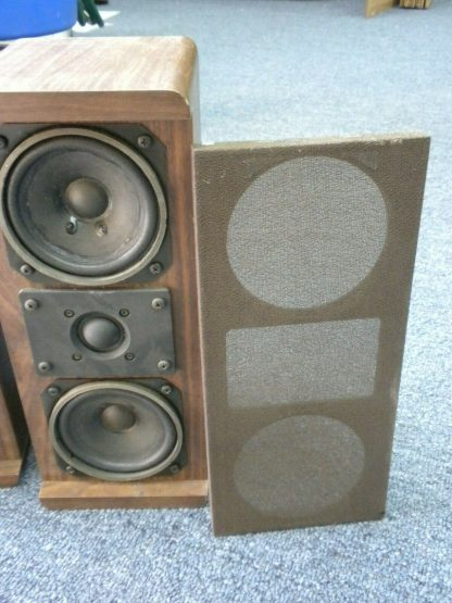 Vintage KOSS Dynamite M80 Plus Wood Bookshelf speakers dual Woofers Sounds Great 264570328625 6