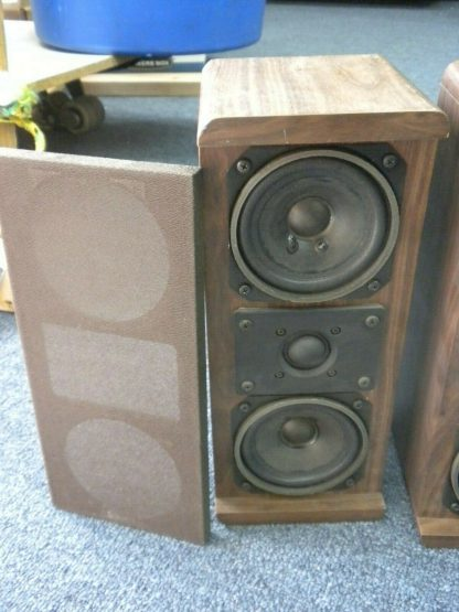 Vintage KOSS Dynamite M80 Plus Wood Bookshelf speakers dual Woofers Sounds Great 264570328625 7