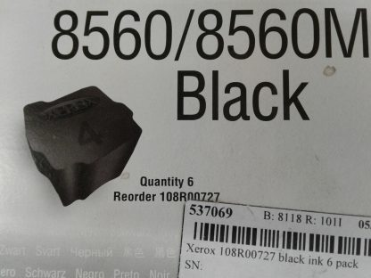 Genuine Xerox 108R00727 Black Solid Ink Cartridge Phaser 8560 8560MFP Lot of 2 274481209936 3