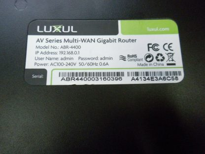 Luxul ABR 4400 4 input Multiple WAN Gigabit Router for Redundancy speed no box 274147837176 3