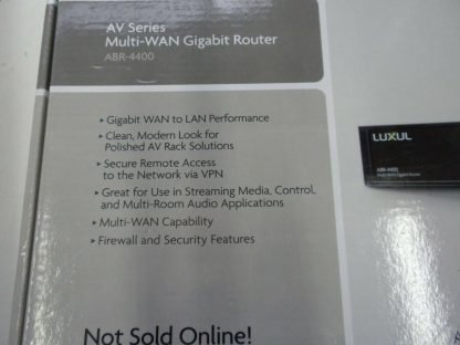 Luxul ABR 4400 4 input Multiple WAN Gigabit Router for Redundant and speed 274223911586 5