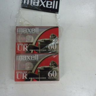 Maxell UR 60 NEW Blank Audio Cassette Tapes Normal Bias Sealed Lot of 2 264607833126