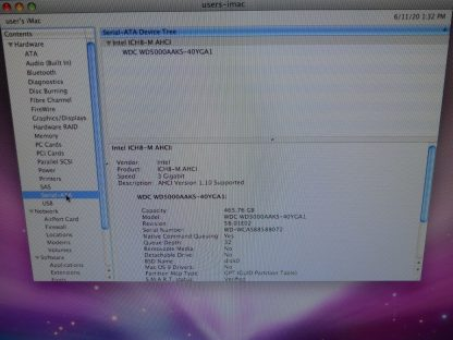 Apple iMac 20 Desktop 24GHZ 500GB Works But has one red vertical line 264760934187 3
