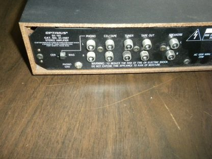 OPTIMUS MODEL SA 155 INTEGRATED STEREO AMPLIFIER USED 264261046657 5