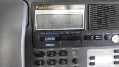 Panasonic KX TG2000B 24 GHz 2 Lines Corded Phone Base Station Good con 273506059217 5