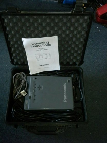 Panasonic PT L556U LCD Projector Remote Manual 30ft power cable Pelican Case 274073094497 3