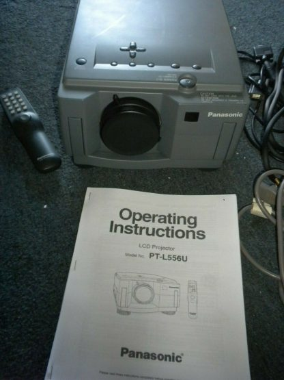 Panasonic PT L556U LCD Projector Remote Manual 30ft power cable Pelican Case 274073094497 4