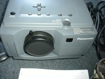 Panasonic PT L556U LCD Projector Remote Manual 30ft power cable Pelican Case 274073094497