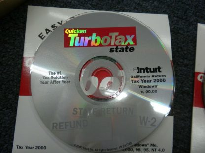 2 CDs Intuit TURBO TAX 2000 Deluxe Federal and State of California for Windows 264349686658 4