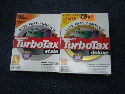 2 CDs Intuit TURBO TAX 2000 Deluxe Federal and State of California for Windows 264349686658