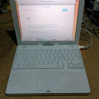 Apple iBook 121 Laptop Power pc G4 133Ghz 512MB 40GB Wifi 10411 works 274669527308