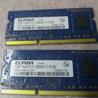 Elpida Pair 2GBx2 4GB total PC3 12800S SODIMM 204pin Works 264304665658