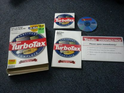 Intuit TurboTax 1999 Federal Return with Box Windows 264349538368 2