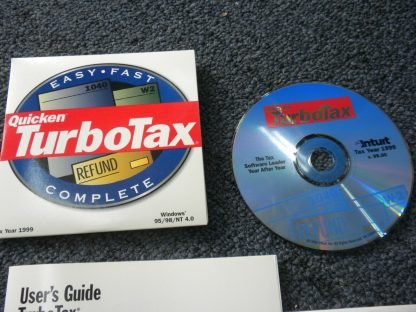 Intuit TurboTax 1999 Federal Return with Box Windows 264349538368 3