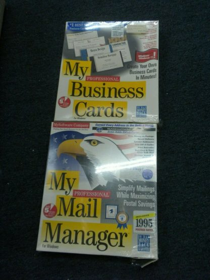 My Mail manager My Business Cards MySoftware Company Wins 31 or higher 1995 NIB 264352187358