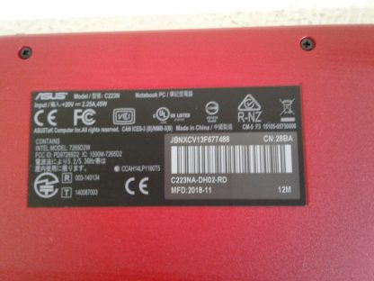Asus C223N Chromebook Red Good condition 264849749789 5