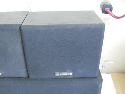 Vintage Fisher Surround sound satellite speakers 3 pcs 274417369509 10